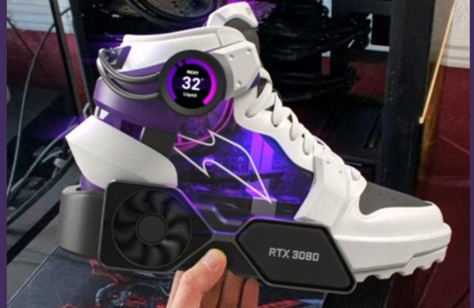 الحذاء الرياضي المعزز بمعدات تقنية