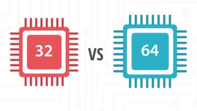 أنظمة تشغيل 32 بت 64 بت