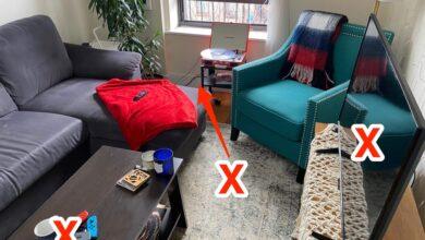 8 أمور في غرفة المعيشة قد تسبب لك التوتر وتجعلها غير مريحة، تعرف عليها